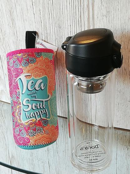 Coffee und Tee to go Becher aus Glas 300ml