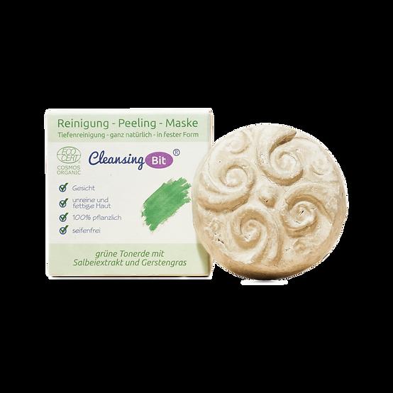 CleansingBit mit grüner Tonerde Salbeiextrakt und Gerstengras