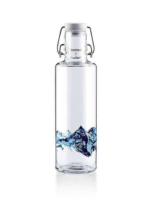 Soulbottle Trinkflasche aus Glas Alpenblick
