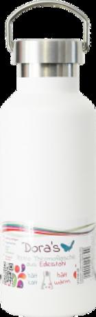 Thermosflasche aus Edelstahl weiß Dora`s Retro