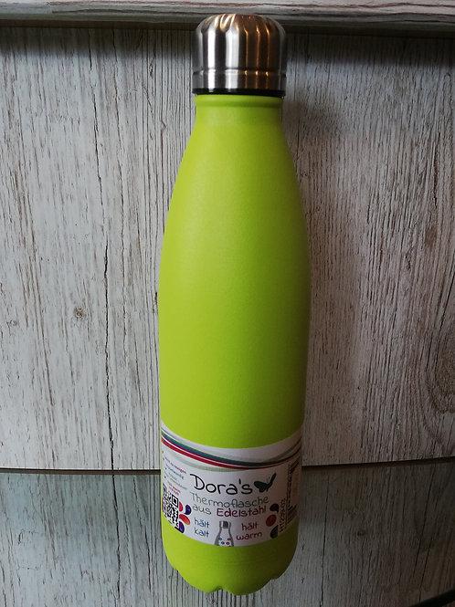 Thermoflasche grün aus Edelstahl 500ml