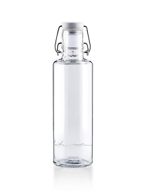 Soulbottle Trinkflasche aus Glas Einfach nur Wasser