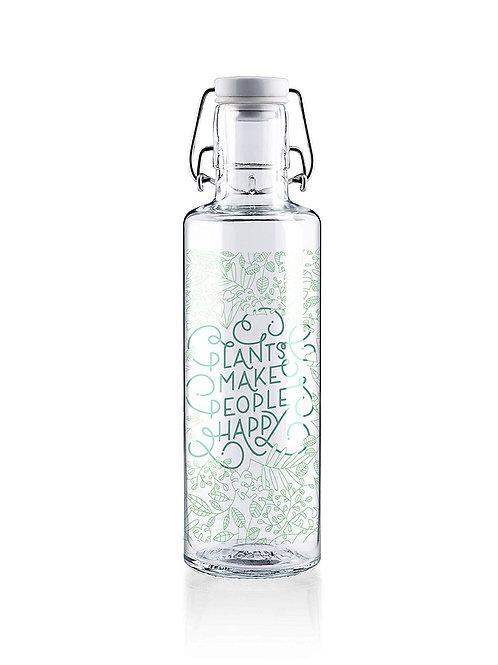 Soulbottle Trinkflasche aus Glas Plants make people happy