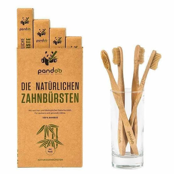 Bambus Zahnbürste 4-er Pack