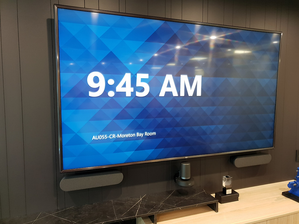 Installation of a 12P video conferencing solution.
