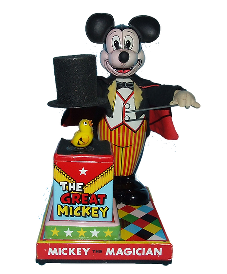 Linemar Mickey Mouse Magician Battery Operated Toy