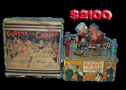 Marx Popeye Champ Tin Wind Up Toy