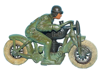 Hubley Cast Iron Motorcycle Toy