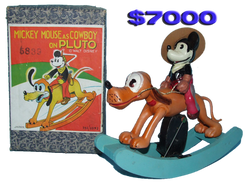 Mickey Mouse Cowboy Celluloid Toy