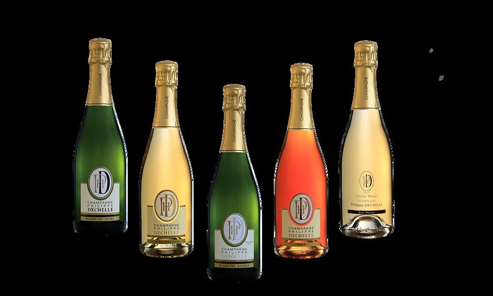 bouteille de champagne a bulle et vins