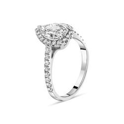 diamant Goutte d'eau Or Blanc