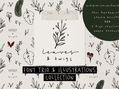 How to Make a Seasonal Postcard Using Leaves and Twigs Collection