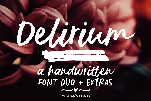 Delirium brush font duo