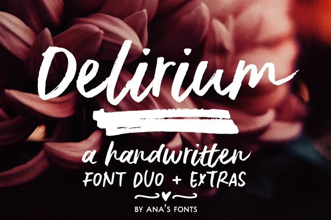 New font! Delirium