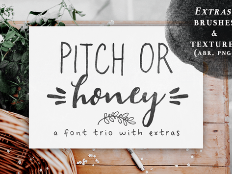 New font and tutorial on how to use Photoshop brushes and patterns