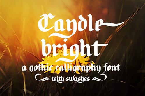 Candlebright blackletter font