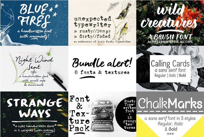 Another font bundle!