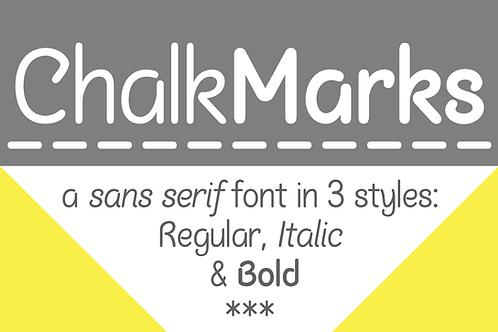 Chalk Marks sans serif font