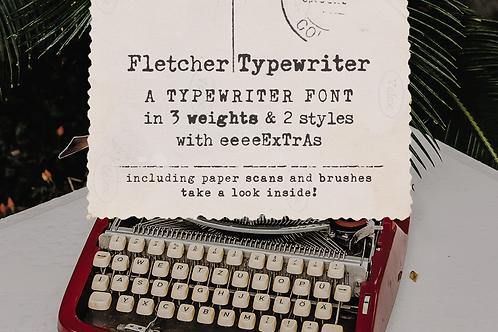 Fletcher Typewriter Font & Extras