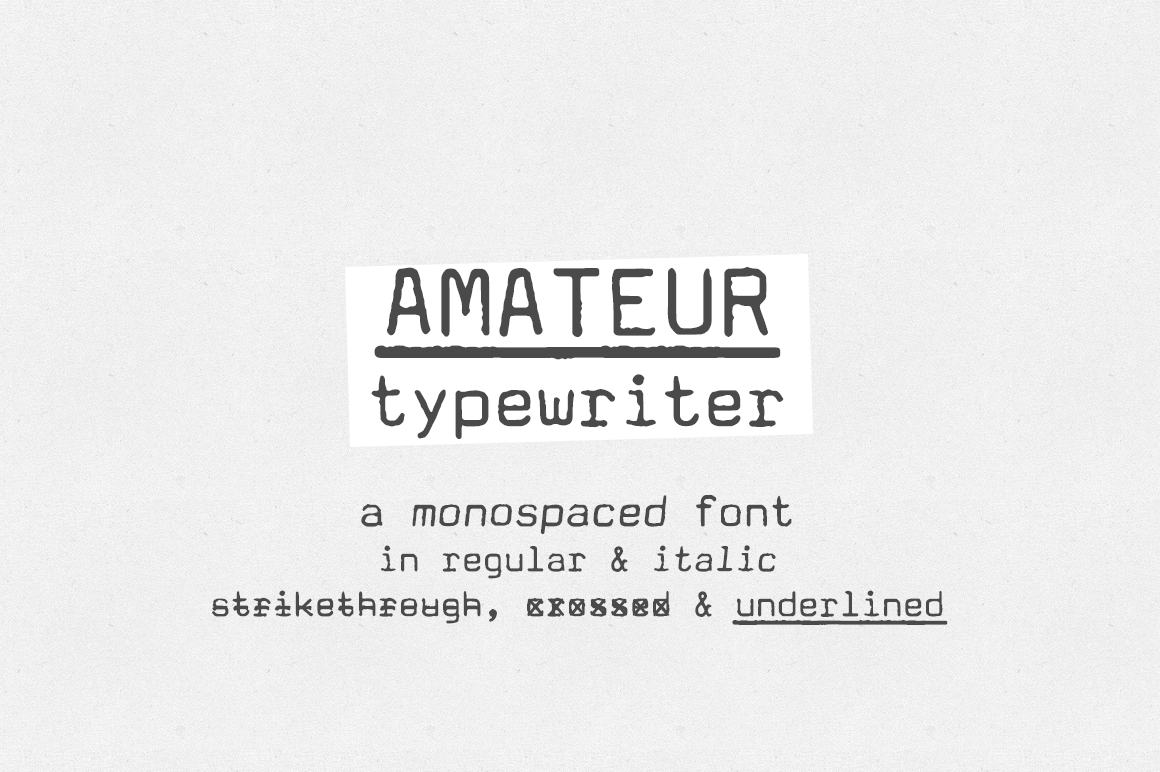 Amateur Typewriter