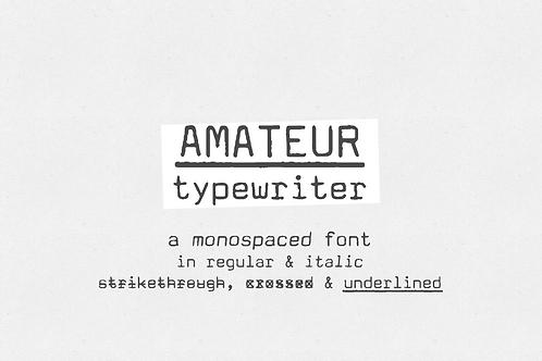 Amateur Typewriter monospaced font
