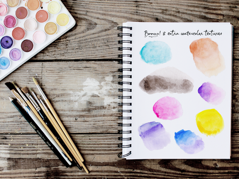 Tutorial #3: How to use watercolor textures