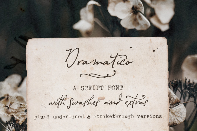 New font! Dramatico Script