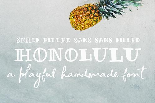 Honolulu handmade sans & serif font