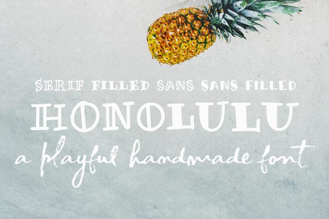 New font! Honolulu