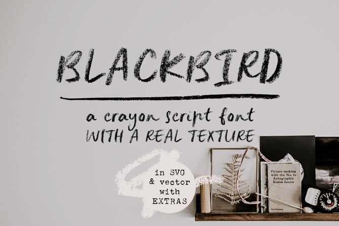 New Font, Blackbird & How To Use SVG Fonts?