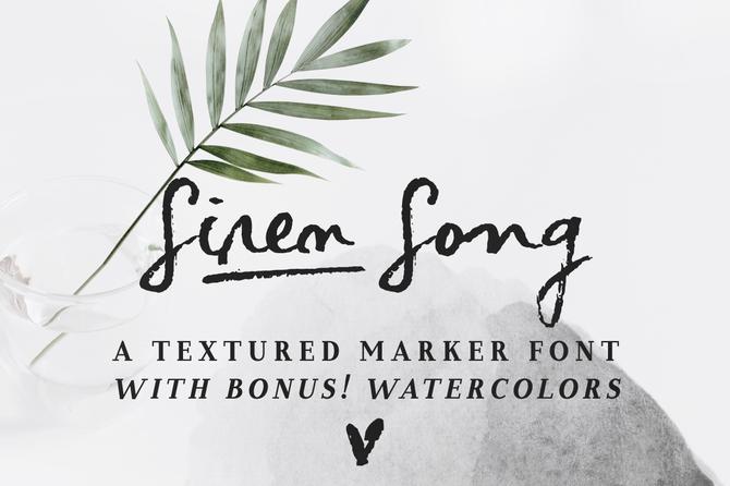 New font! Siren Song