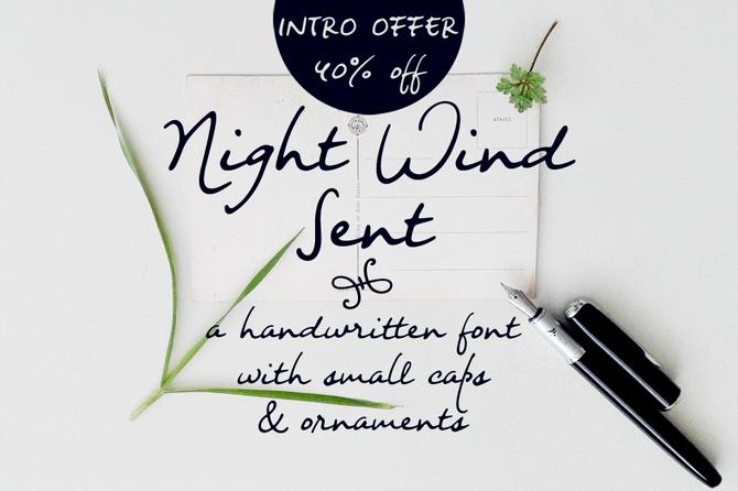 New font! Night Wind Sent