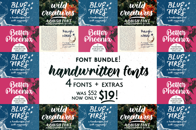 Mini bundle: Handwritten fonts