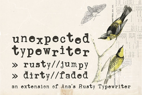 Unexpected Typewriter font