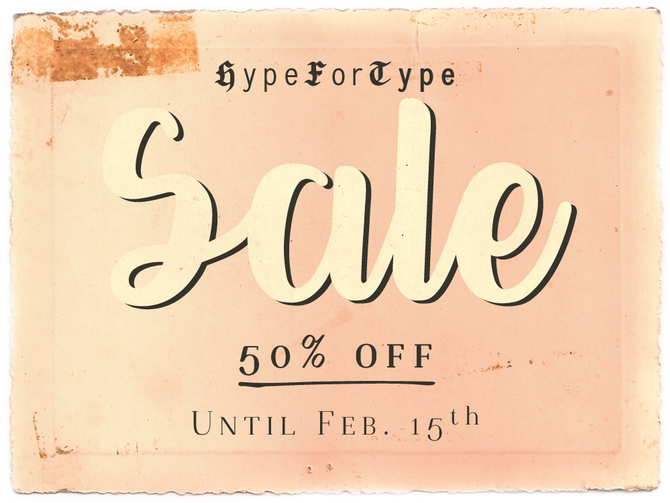 January font sale!
