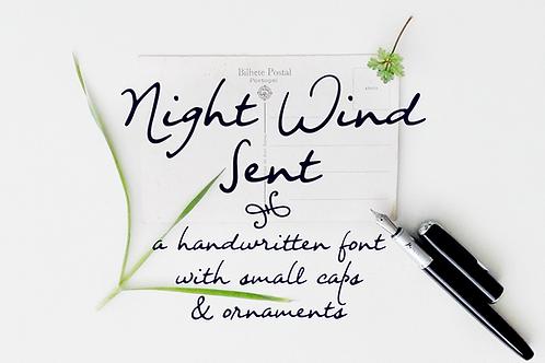 Night Wind Sent handwritten font