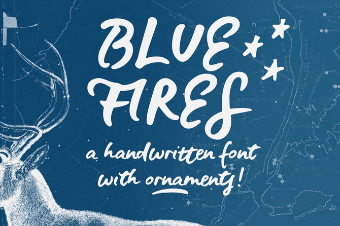 New font! Blue Fires