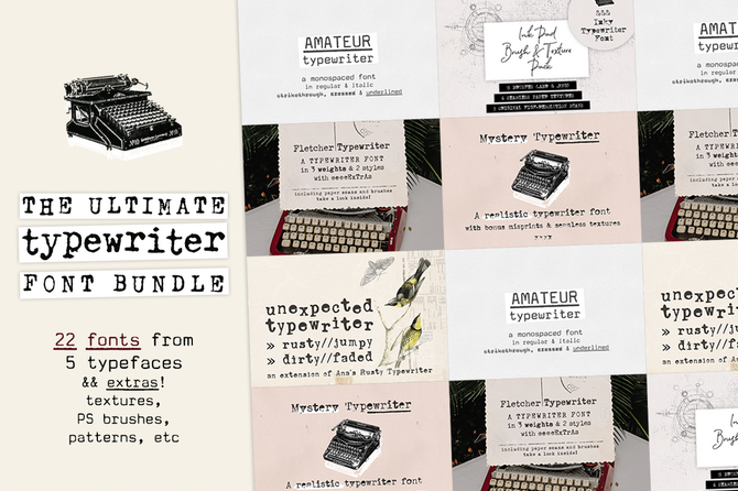 New Typewriter Font and Bundle
