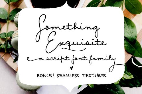 Something Exquisite script font
