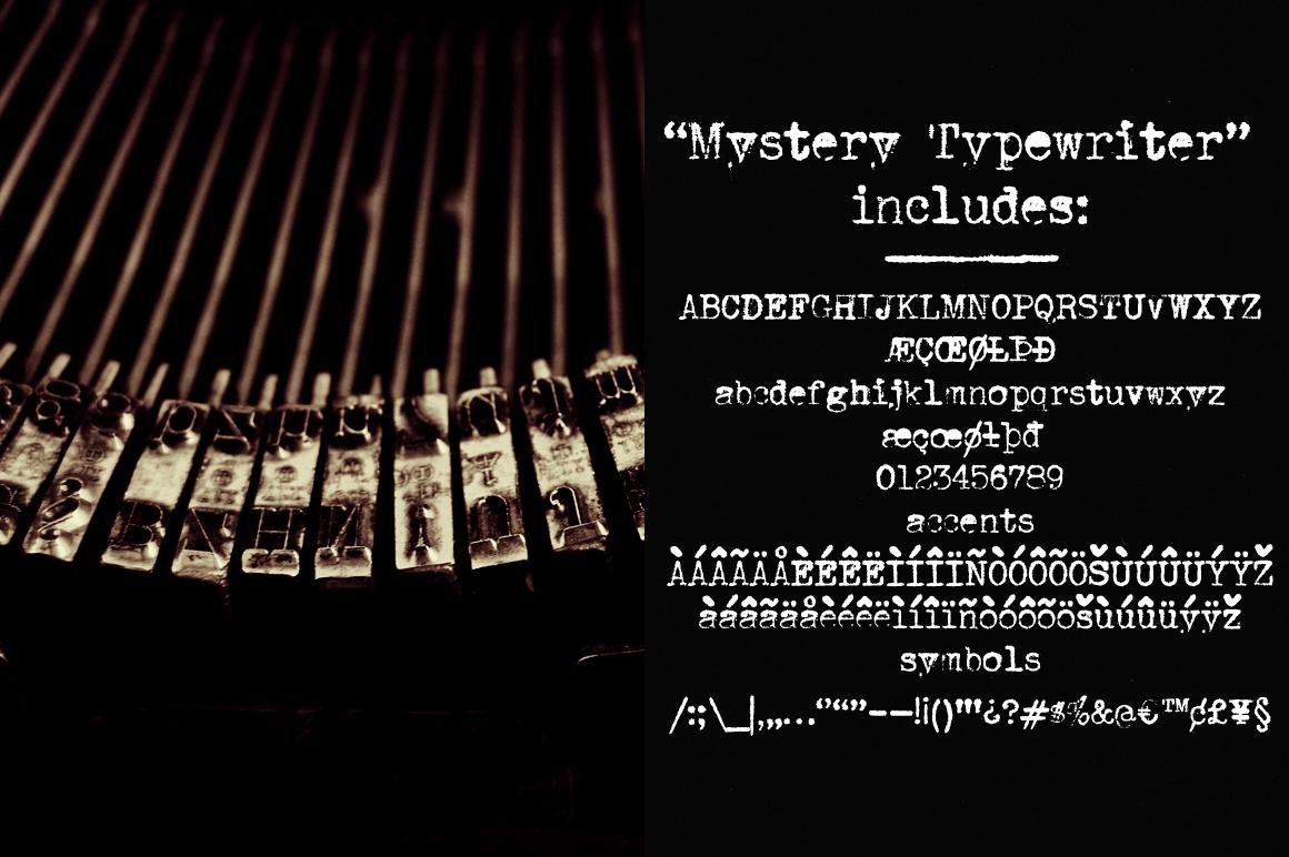 Mystery Typewriter