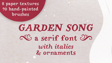 New serif font, Garden Song 🌻