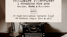 New Typewriter Font, Populaire With Extras