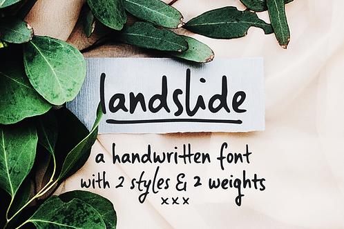 Landslide handwritten sans font