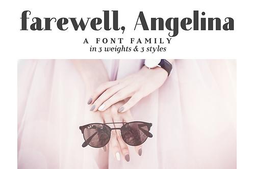 Farewell Angelina font family