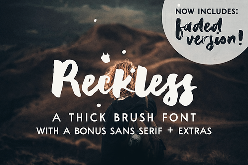 Reckless brush and sans font duo