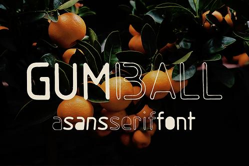 Gumball sans serif font
