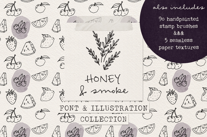 New font! Honey and Smoke