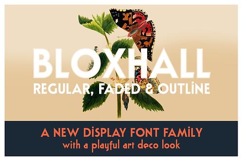 Bloxhall art deco sans serif font