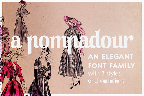 A Pompadour retro font duo