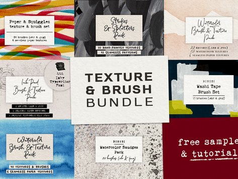 Free Texture and Brush Sample and Tutorial!